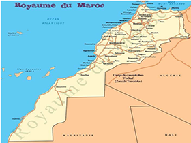 map of Jatrpha in Morocco